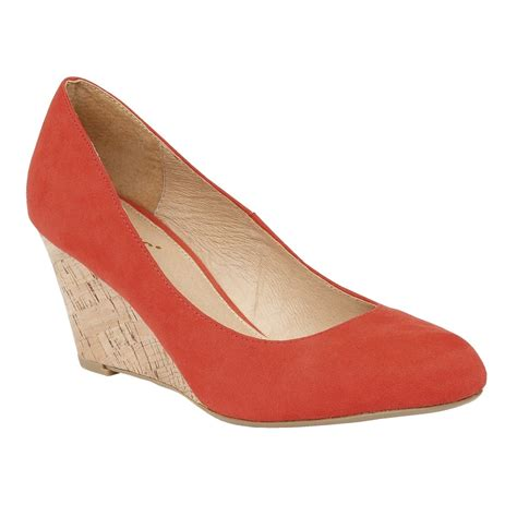 coral shoes coral jelico microfibre wedge shoes lotus shoes from