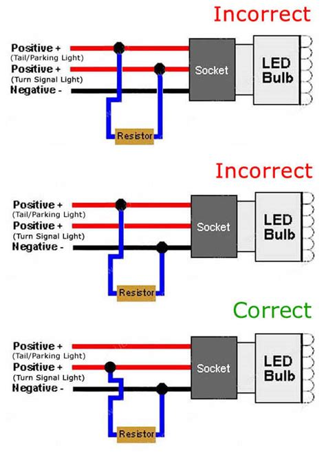 led tail light resistor wiring hyper lights wiring diagram 27 wiring diagram images