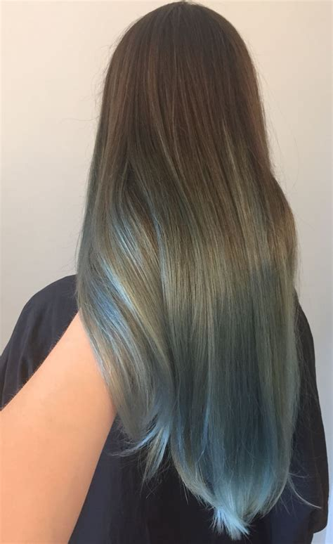 silver blue hair on pinterest lemon hair highlights brown to silver blue color melt ombre portland by holly