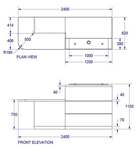 Eclypse Reception Desks Reception Desk Dimensions