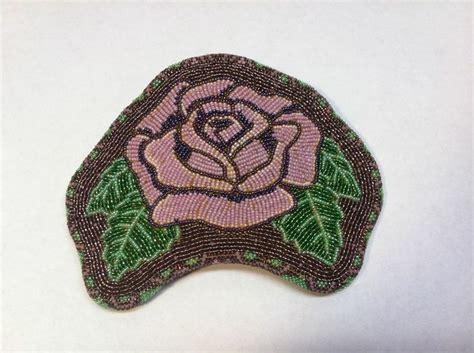 beadwork rose amazing indian beaded barrette