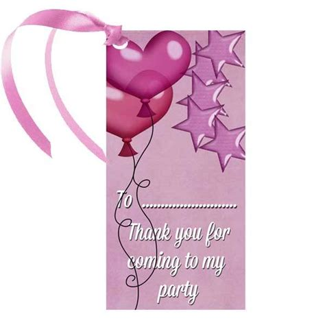 to my tag pink thank you for coming to my gift tag balloons co uk
