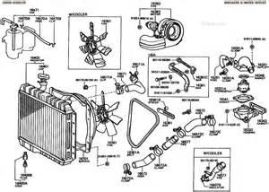 land cruiser fj40 fj55 bj40 bj42 radiator illustration diagram