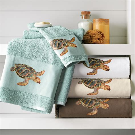 Home Bed Bath Bathroom Towels Sea Turtle Towels Turtle Sea Bathroom Accessories
