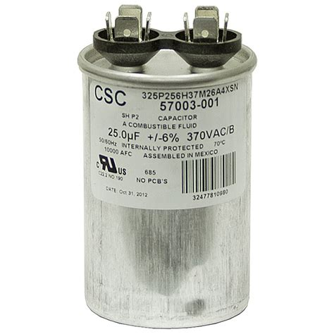 ac motor run capacitor calculation 25 mfd 370 vac motor run capacitor csc 325p256h37m26a4xsn motor run capacitors capacitors