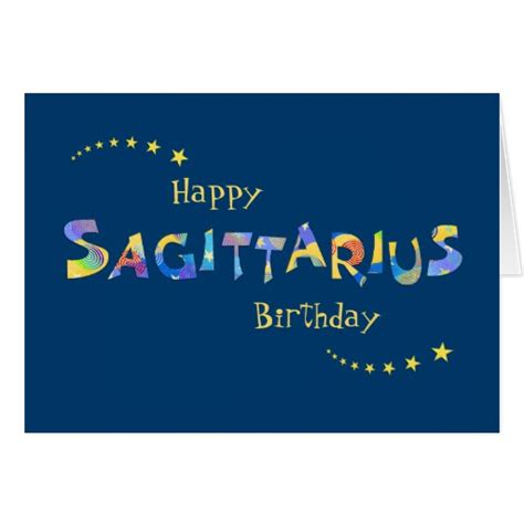 How To Sign A Birthday Card For A Coworker Fun Sagittarius Zodiac Sign Birthday Greeting Greeting