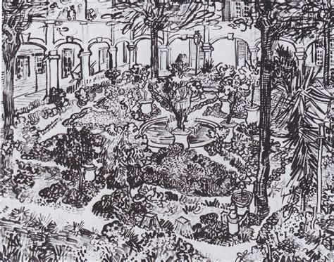 Toner Garden Of draw paint print vincent gogh garden of the hospital in arles