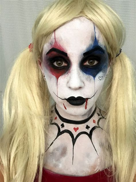 zombie cosplay costume glitter face design tattoo makeup erica s diy work harley quinn face paint