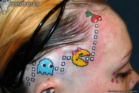 pacman tattoo favorite tattoss pacman and gaming