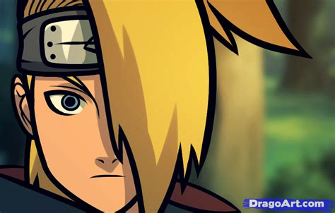 how to draw deidara easy step by step naruto characters