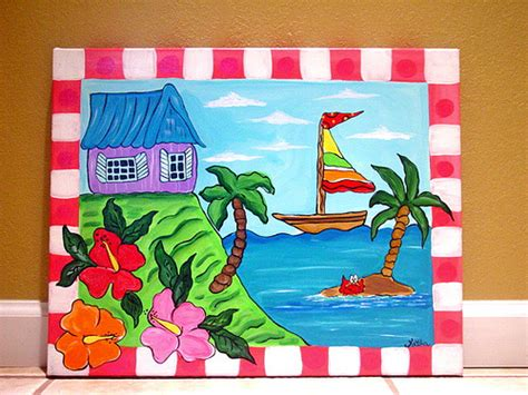 painting for child tropical sea painting wall canvas nur