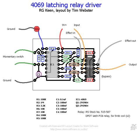 switching layout blog using a latching relay driver for true bypass fredric website