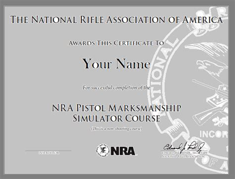 nra pistol marksmanship simulator course training from