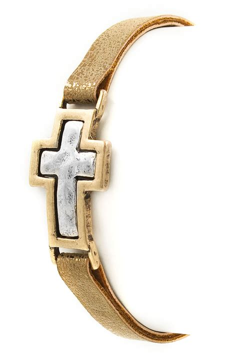 Faux Leather Bracelet faux leather cross bracelet bracelets