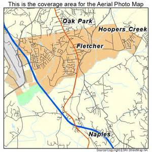 aerial photography map of fletcher nc carolina