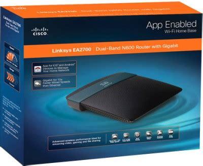 Router Linksys Ea2700 cisco linksys ea2700 n600 dual band smart wi fi router cisco linksys flipkart