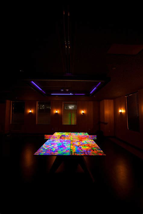 spin standard reveals glow in the ping pong table
