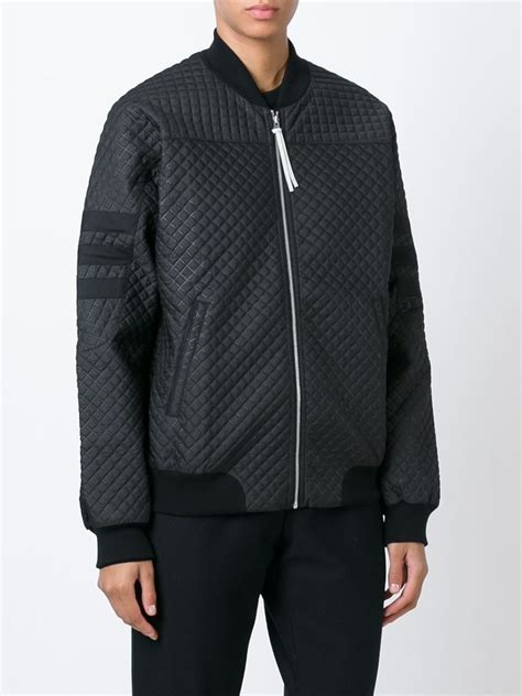 Adidas Quilted Bomber Jacket by Adidas Originals Quilted Bomber Jacket In Black Lyst