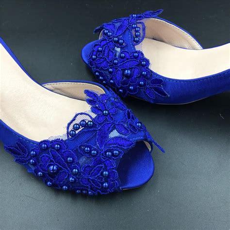 Wedding Shoes Usa by Sizes Royalblue Peep Toe Wedding Shoes Cobalt