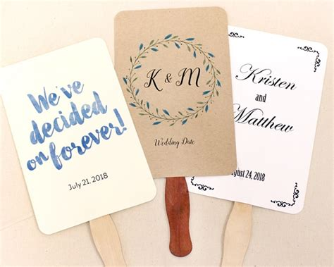diy wedding program fans wedding program fan kit cool color choices at craftysticks