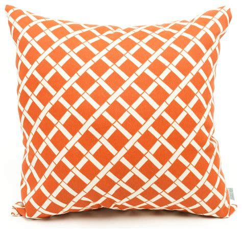outdoor burnt orange bamboo pillow