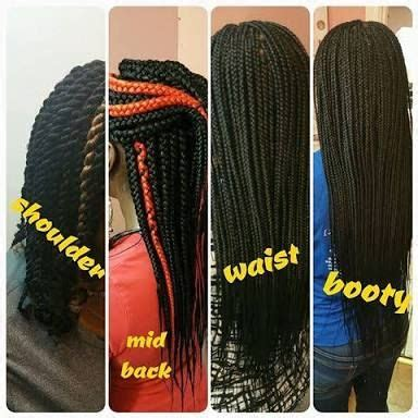 sizes of braids image result for box braids size chart natural hair