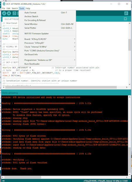 programming  attiny