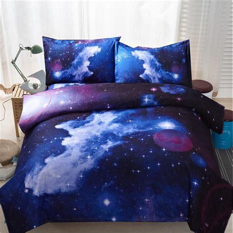 space bed linen 3d galaxy duvet cover set single 2pcs