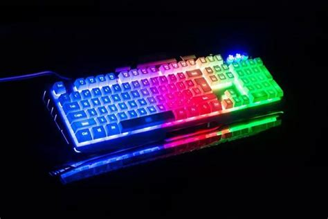 light up wireless mouse yuesong backlit wired computer game keyboard light up led