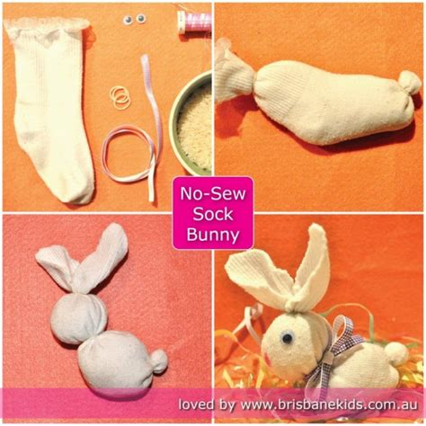 sock bunny easy no sew sock bunny sock bunny easter crafts and brisbane