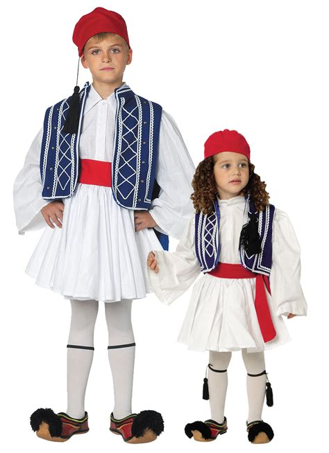 tsolia traditional boys greek costume evzone greek