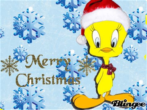merry christmas  tweety picture  blingeecom