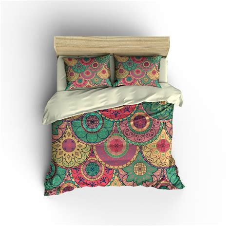 Boho Cover by Boho Bedding Duvet Cover Set Mandala Floral Design