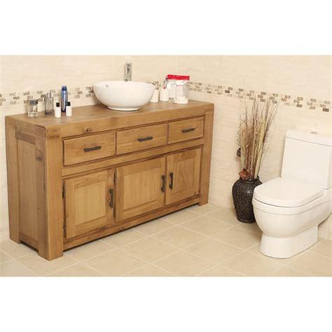 rustic bathroom vanity units milan large rustic oak bathroom vanity unit click oak