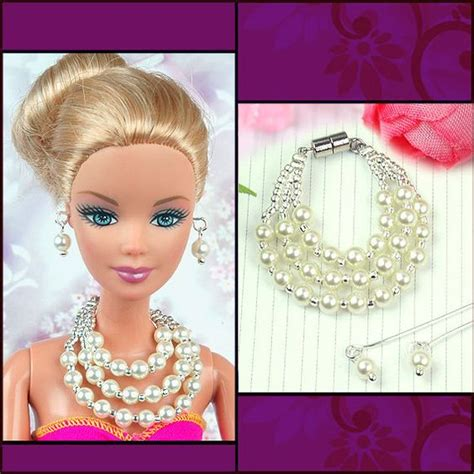 hey doll fashion jewelry doll jewelry set white pearl necklace and by