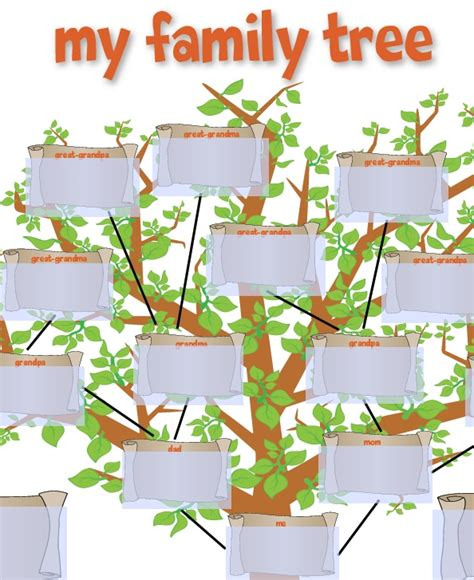 family tree template for kids school ideas pinterest