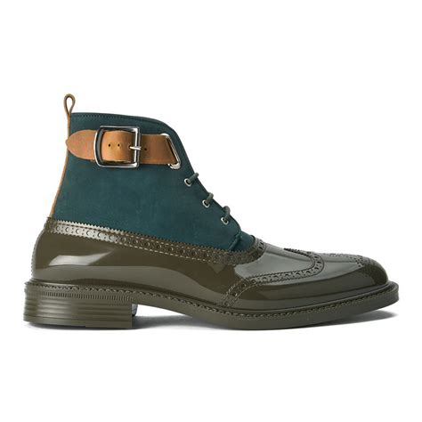 mens green boots vivienne westwood s lace up leather suede brogue boots