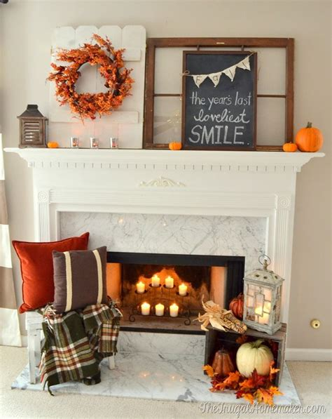 Fall Decorations For Fireplace Mantel by 17 Best Ideas About Fall Fireplace Mantel On