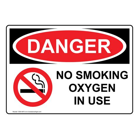 no smoking oxygen in use sign r5400 by safetysign com osha danger no smoking oxygen in use sign ode 4870 medical