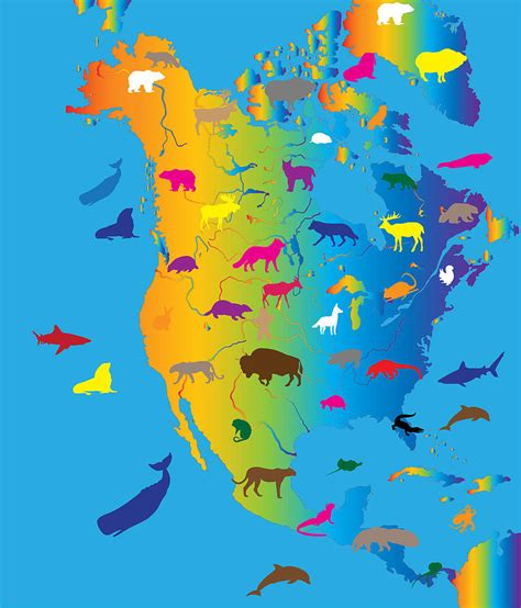 where do jaguars live in south america animal map of america painting by celestial images