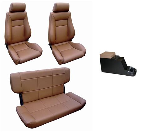 early bronco seats complete set custom seats w center console spice toms