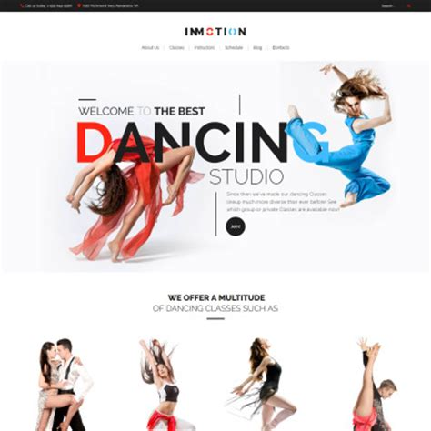 education theme dance education templates