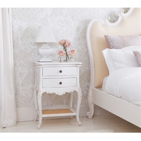 white table bedroom provencal 2 drawer bedside table french bedroom company