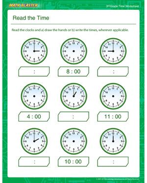 printable math time worksheets for 3rd grade read the time free time worksheet for 3rd grade math