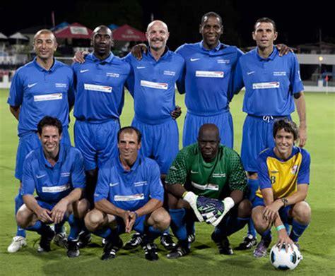 chelsea legend join footballing legends in barbados