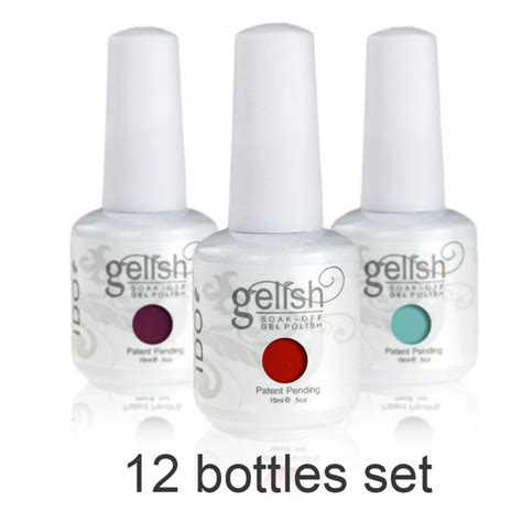 Gel Nails Products by 12 Bottles Set 15ml I Do Gelish Nail Gel L M