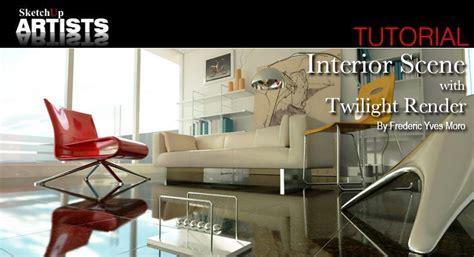 Google Sketchup Twilight Render Tutorial | interior scene with twilight render sketchup 3d