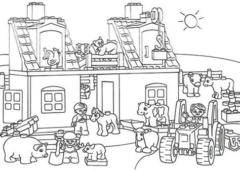 animals in the barnyard coloring page barn house lego duplo coloring pages bestofcoloring com