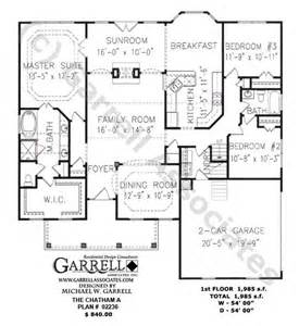 One Story Ranch Style House Plans by Chatham A Plan 02236 1st Floor Plan Ranch Style House
