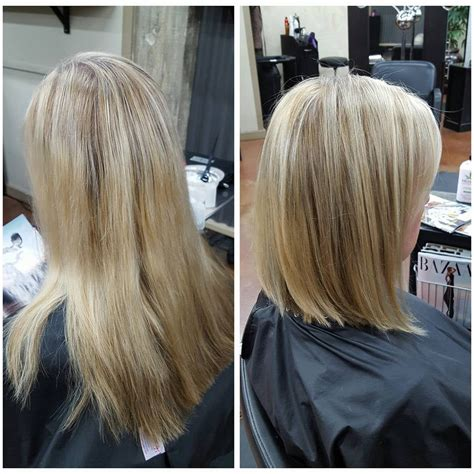 long bob haircuts before and after before after partial foil long bob haircut yelp